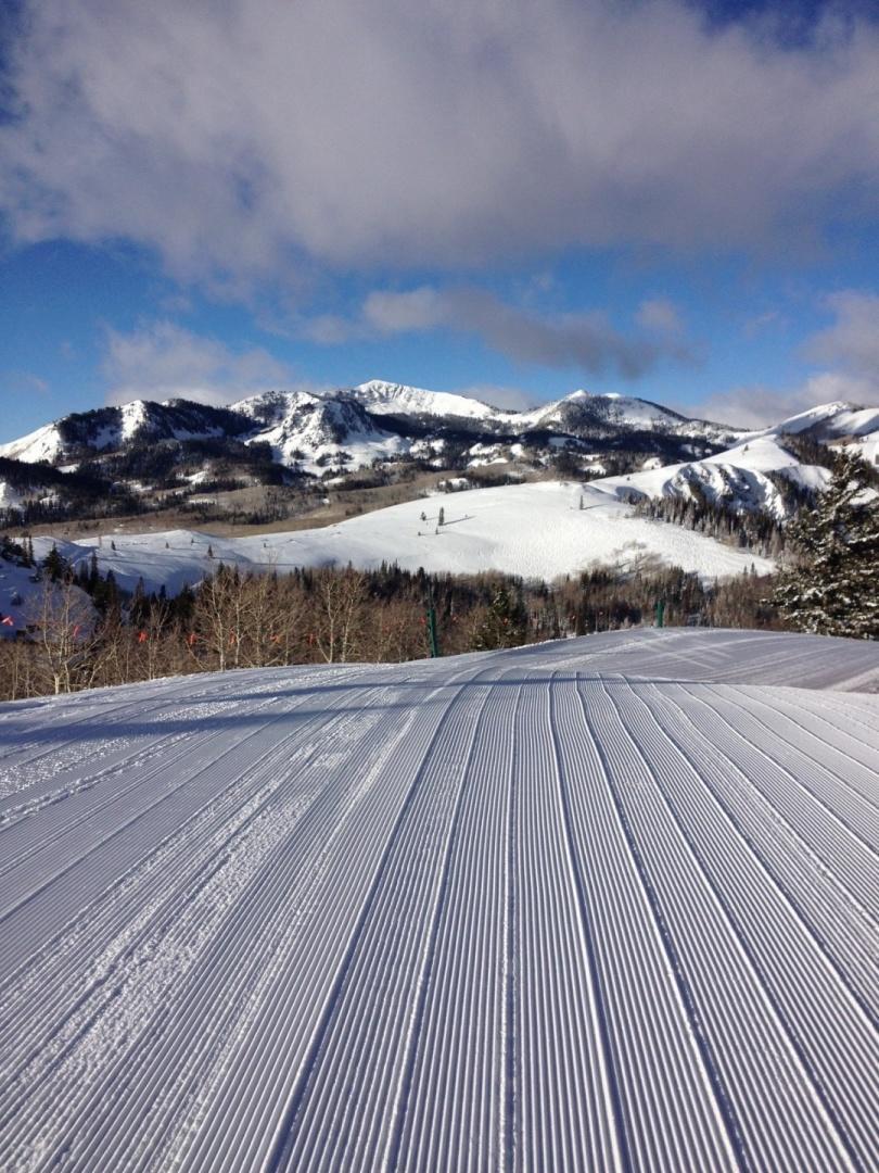 Deer Valley's famed corduroy groomed snow Slide-14