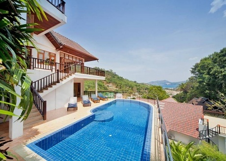 Patong Hill Estate Five | 5 Bed Pool Villa with Ocean View Patong Phuket