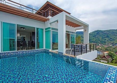 Kata Horizon Villa A1 |4 Bed Pool Villa with Sea Views in Kata Phuket
