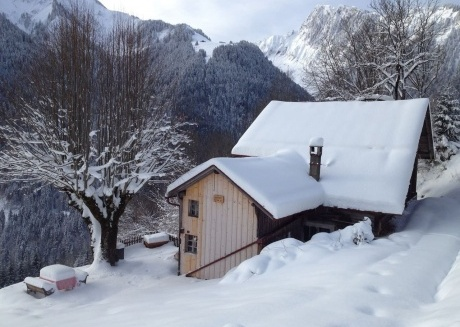 Spacious country house very close to the centre of Rossinière with Parking, Internet, Washing machine, Garden