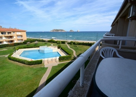 Cozy apartment in the center of Els Griells with Lift, Washing machine, Pool