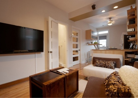 Spacious apartment in Montreal with Internet, Washing machine, Terrace