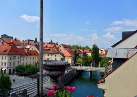 Old Town Terrasse view on Ljubljana River