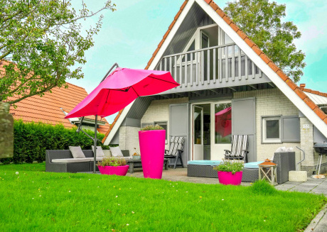 6 pers. Sunny house with equipped terrace behind a dike at Lauwersmeer