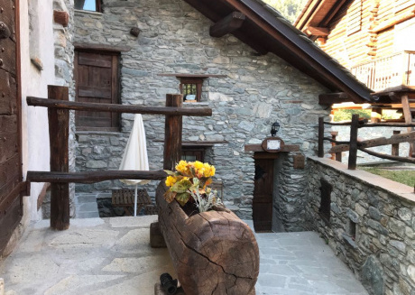 Stone chalet with panoramic views