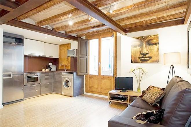 Zen Boqueria 1BR designer flat La Rambla - Bella 3 Slide-3