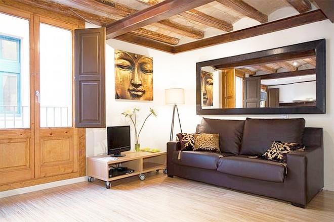 Zen Boqueria 1BR designer flat La Rambla - Bella 3 Slide-4