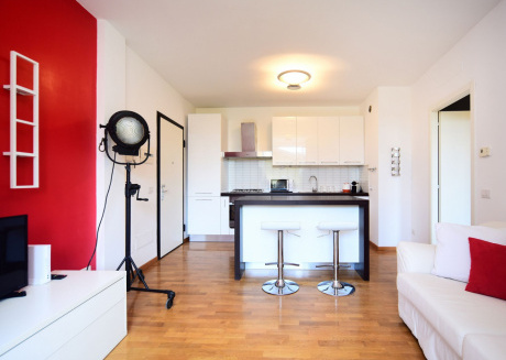 Spacious apartment in Milan with Lift, Parking, Internet, Air conditioning