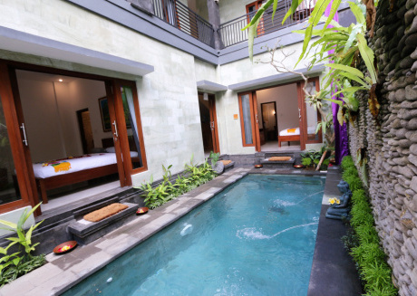 Spacious house in Ubud with Internet, Pool, Balcony, Garden