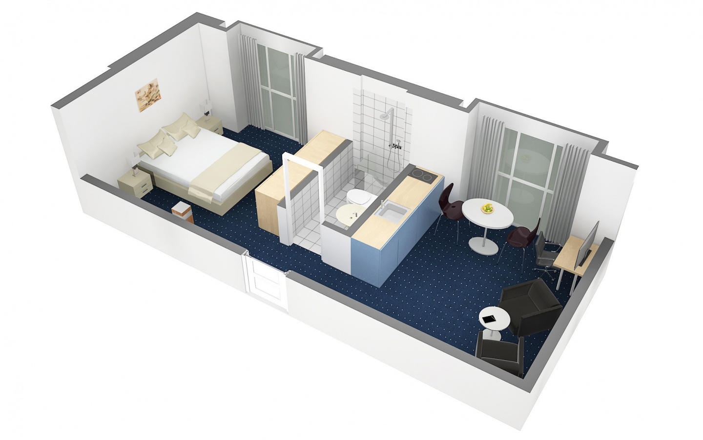 Cozy apartment in the center of Cham with Lift,... Slide-3