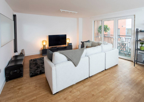 Cozy apartment very close to the centre of Manchester with Lift, Internet, Washing machine