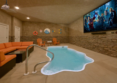 Brand New - Private indoor heated pool and theater room!