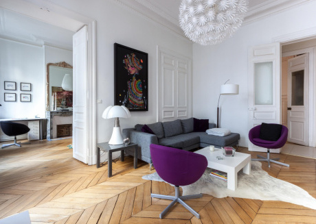 Spacious apartment in the center of Paris with Lift, Internet, Washing machine