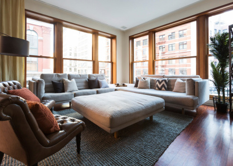 Spacious apartment in New York with Internet, Washing machine, Air conditioning, Terrace