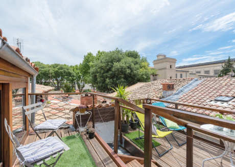 Spacious apartment in the center of Montpellier with Internet, Washing machine, Air conditioning, Terrace