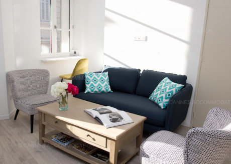 Cozy apartment in the center of Cannes with Internet, Washing machine, Air conditioning