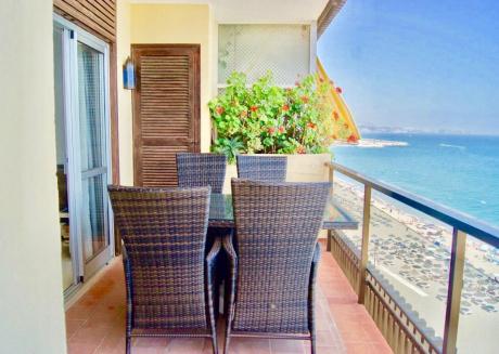 3BR Fuengirola Promenade - First Line Beach Apartment with Panoramic Sea Views