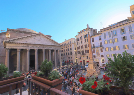 Look at the Pantheon from your balcony