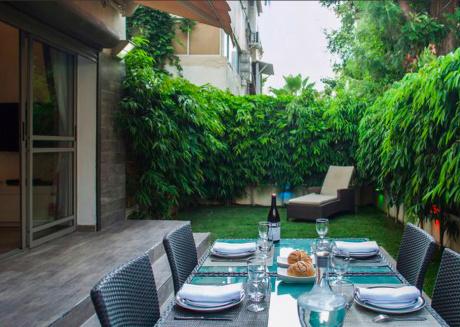 Homelike 2 BR w/ garden in Kerem Hatemanim