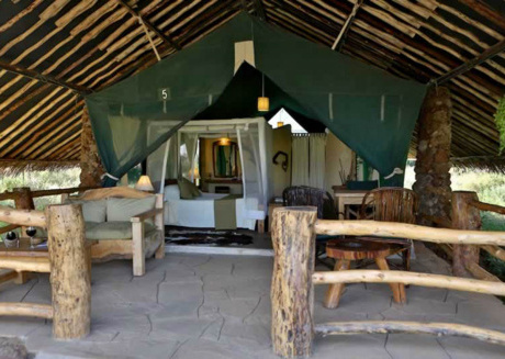 Have a great experience staying in one the tents at Kibo Safari Camp