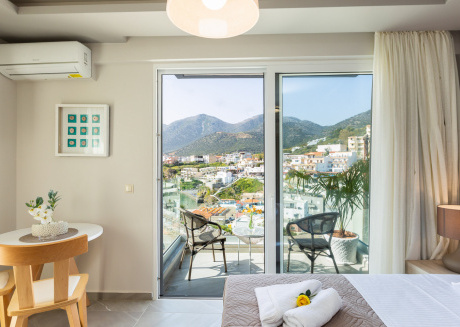 Double Studio with Sea and Mountain View in Akrogiali Luxury Aparthotel