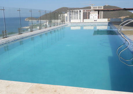 Ocean view apartment with semi private beach in Pozos Colorados