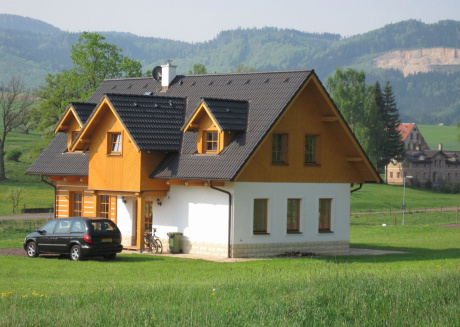 Comfortable holiday home in Bozanov with its own sauna and panoramic view