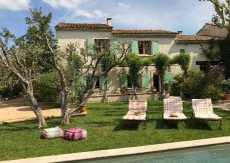 Beautiful Mas near Arles with private pool, romantic patio and yoga studio.