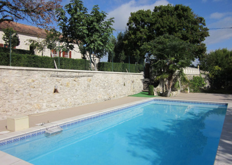 Luxurious holiday home with private mini-golf course, pool and fantastic view