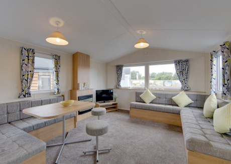 Comfortable chalet with two bedrooms, located at Holiday Park Hunzedal
