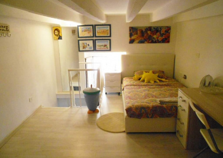 Modern mezzanine in the apartment