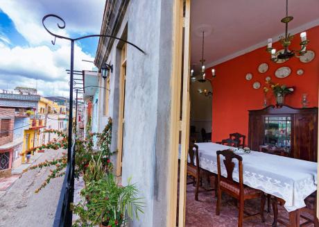 Hostal Sarahi, Room 2, luxury bedroom at Trinidad heart