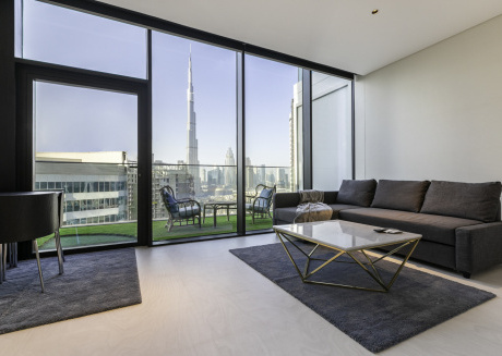 Brand New I Uninterrupted Burj Khalifa View Studio in Marquise Square, Business Bay # 2314