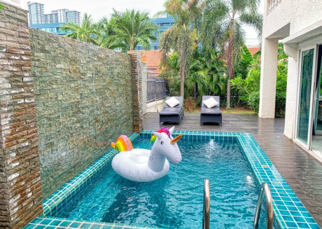 Private Pool Villa, 200 meter from Jomtien Beach