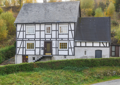 Large half-timbered house near Winterberg with garden, terrace and garage